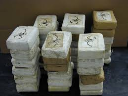 928 kilo cocaïne blokken marmer