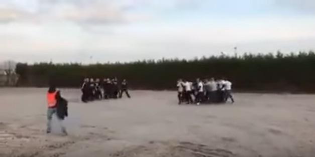 vechtpartij hooligans az feyenoord